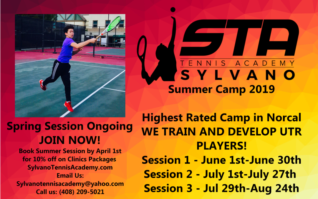 Summer Tennis Camp 2019 – Junior Tennis Program – Sylvano Tennis Academy